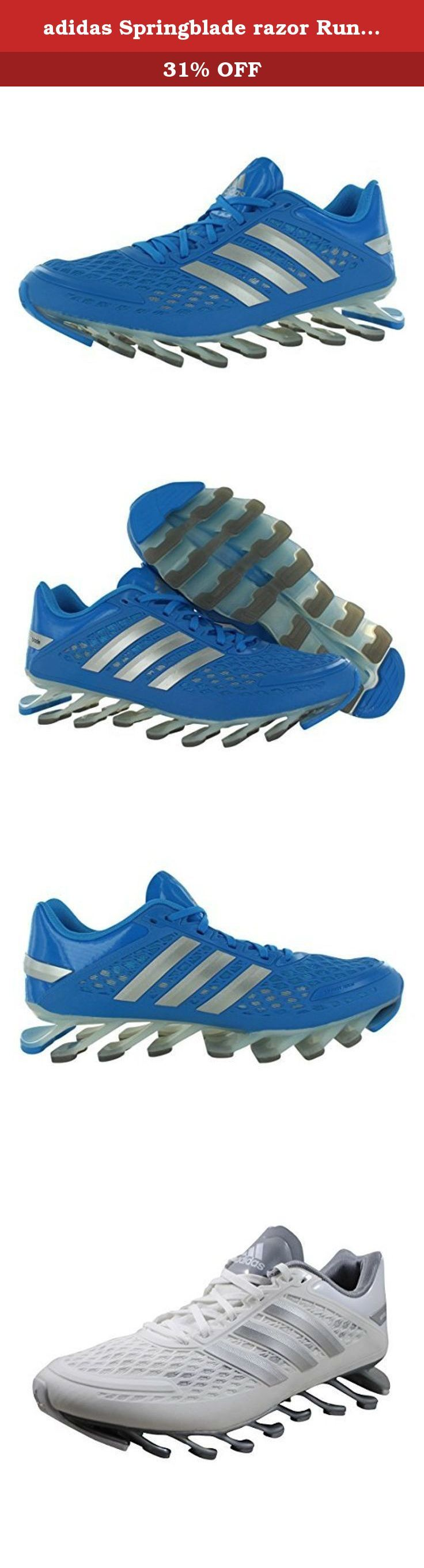 adidas Springblade razor Running Shoes Boys' Grade School AUTHENTIC sneakers white (5.5). The ADIDAS SPRINGBLADE RAZOR JUNIOR RUNNING SHOE is an incredible and innovative offer for those boys who love running. 16 small high-tech elastic-polymer blades on the outsole allows a more efficient stride that release more energy. Designed with transparent blades, you will feel like you're running on air.