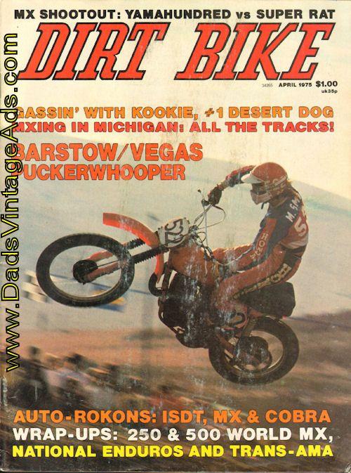 1975 April Dirt Bike Magazine Hodaka Super Rat Vs