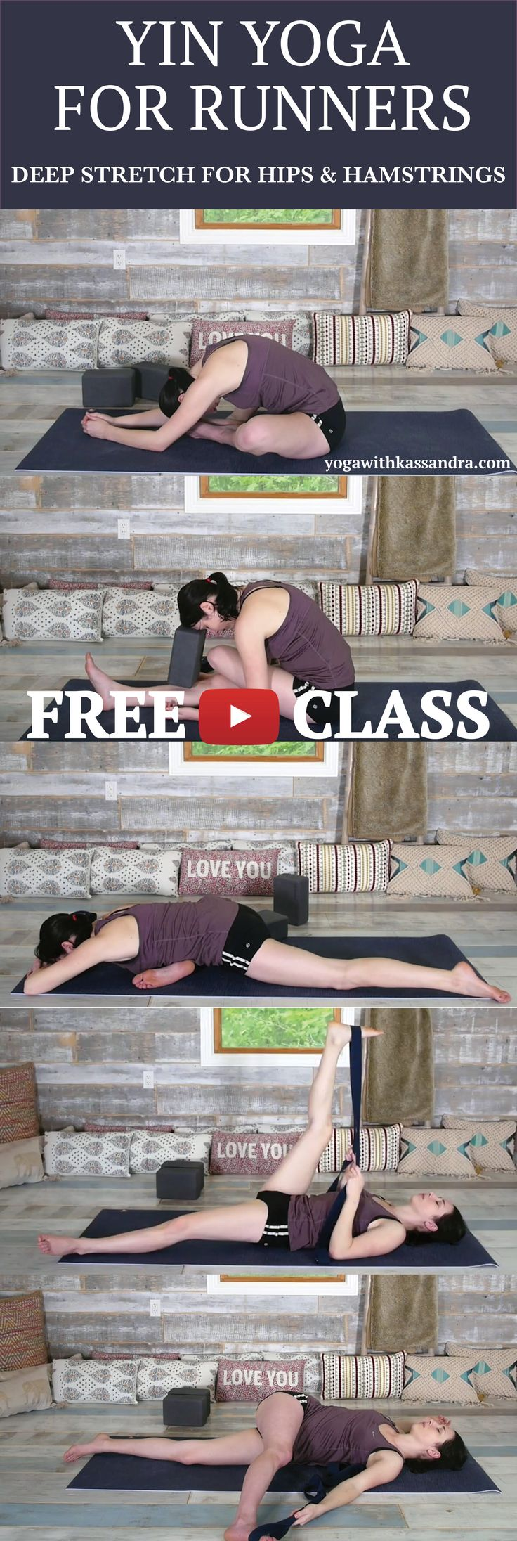 Yoga for runners is one of the videos I get the most requests for. And although yoga for runners was one of the first videos that I created on my channel, I thought it was time for a revamp (bigger and better right?)  As these are yin yoga poses, we move