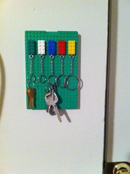 Lego Key Holder I Made It Pinterest Lego Key Holders