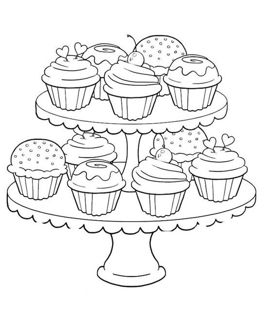 Coloring Kids | Cupcake coloring pages, Coloring pages ...