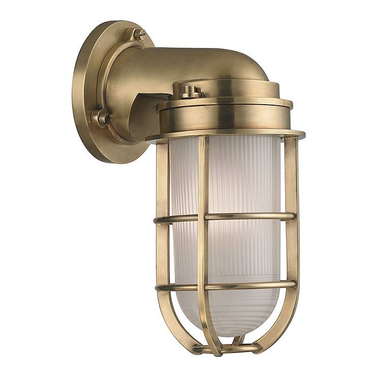 Hudson Valley Lighting 240 Carson 1 Light Nautical Outdoor Wall Sconce With  Pressed Glass Shade.