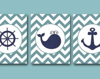Sailor theme nursery decor www.etsy.com
