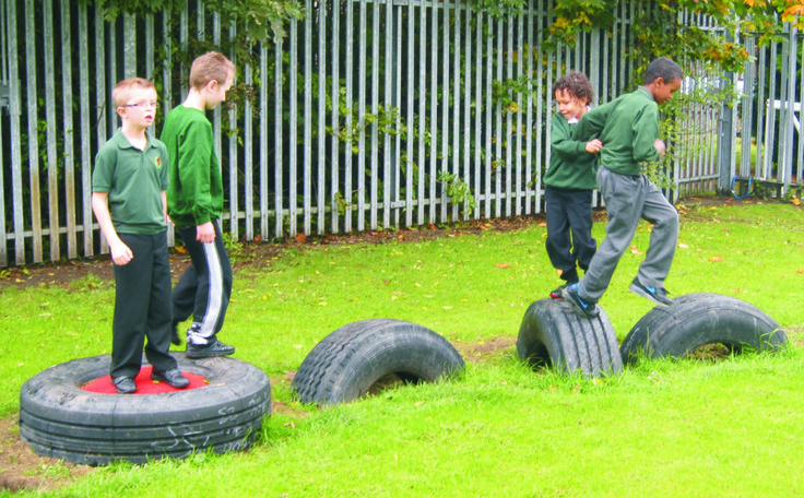 Leap & Hop across our Truck Tyres! This is a great additional resource to any Trim Trail combination and fantastic on it's own as a singular source for active play. Watch as children create their own imaginative obstacle course. Find out more here - http://www.pentagonplay.co.uk/products/active-play/trim-trail-playground-equipment/20-truck-tyres