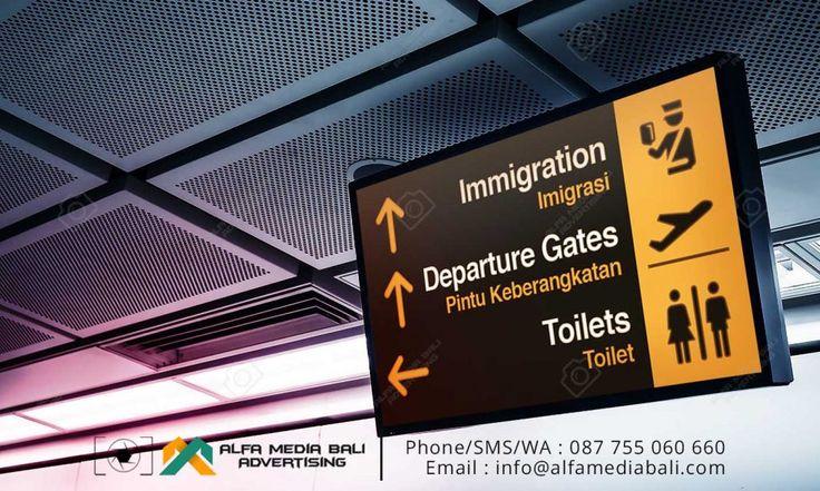 Neon box Acrylic Indoor Bandara Ngurah Rai | Alfa Media Bali