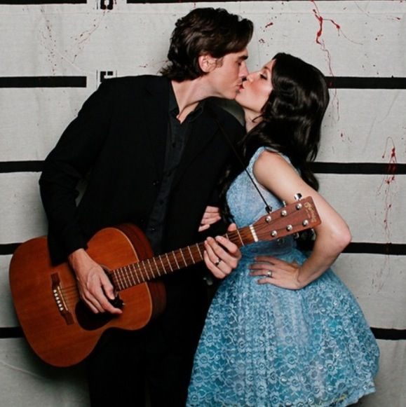 Couples Halloween costume...June Carter and Johnny Cash!