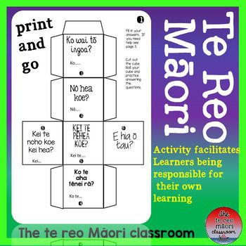 This te reo Maori resource is a wonderful little activity.By playing the dice game you will be fast tracking some Achievement Objectives or using as revision.This is a tried and true activity and can be used as individual, self-directed or group work.Dice 1-konga write their answers to these questions on the dice, with the help of a reference sheet.1.Ko wai t ingoa? -Whats your name?2.N hea koe? -Where are you from?3.Kei te phea koe?