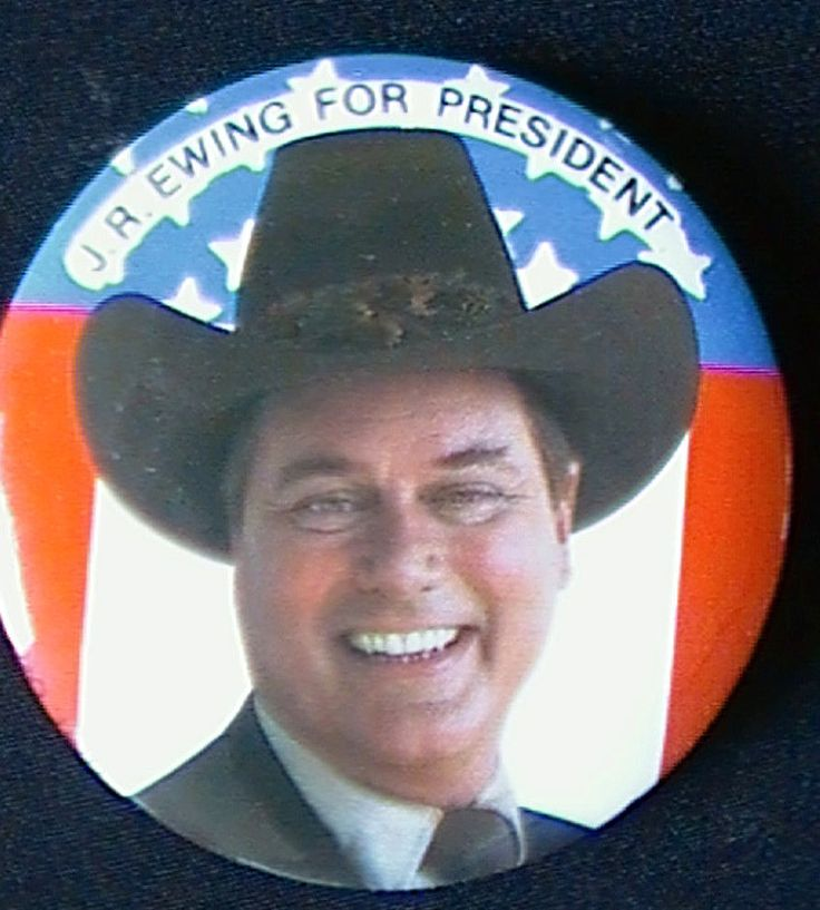 Vintage 1980 Pin Back - Dallas Series J.R. Ewing For President Button