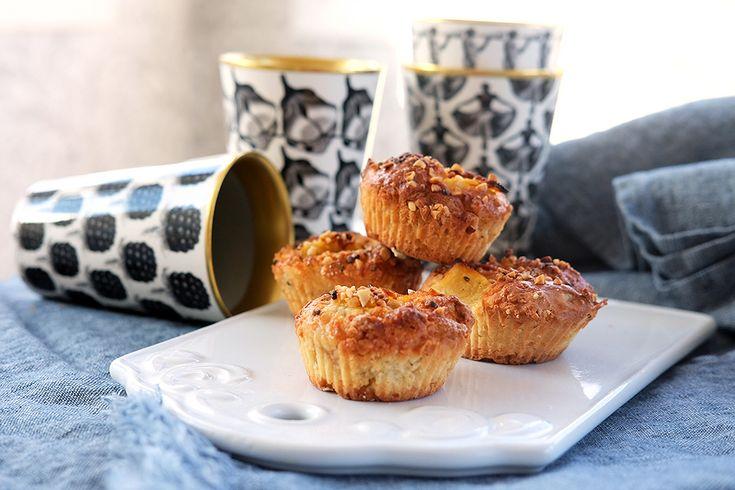 Hisnande goda hastbullar à la Lisa Lemke (muffins med kardemumma, äpple och nötter)