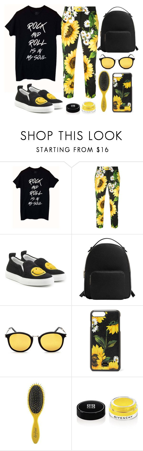 """Sunflowers mood"" by yutsu ❤ liked on Polyvore featuring Dolce&Gabbana, Joshua's, MANGO, Yves Saint Laurent, Drybar and Givenchy"