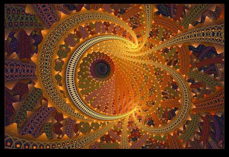 crescent pure fractal flame by Cory Ench © 2007