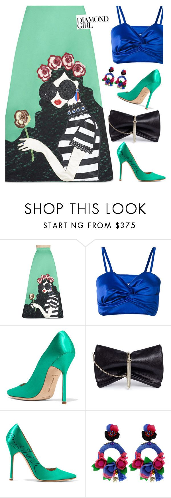 """""""Bright gown!"""" by lence-59 ❤ liked on Polyvore featuring Alice + Olivia, Sadie Williams, Vetements, Jimmy Choo and Ranjana Khan"""