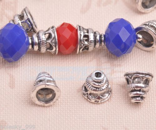 100pcs-8mm-Tibetan-Silver-Bead-Caps-Charms-Spacer-Metal-Beads-Jewelry-Wholesale