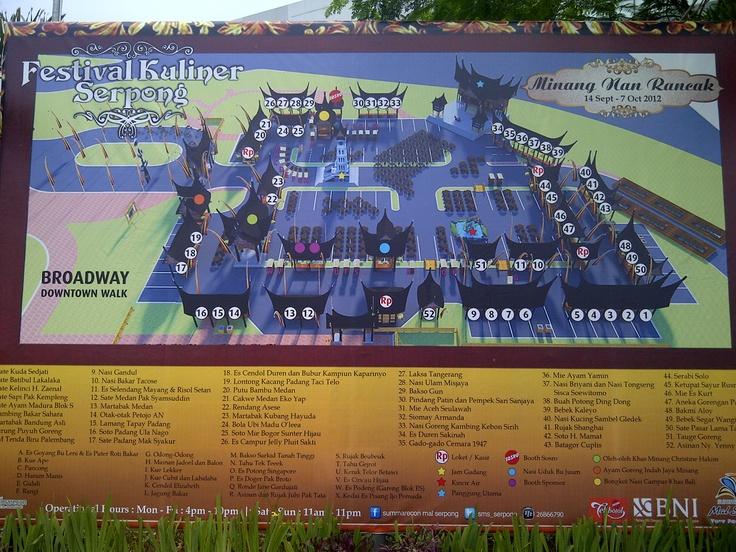 The Map of #FKS2012 @serpongfoodfest