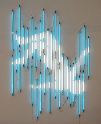 'Freefall' Neon, 2011 by artist James Clar