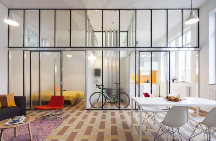 Lieven dejaeghere reconversie van schoolgebouw tot sociale woningen izegem mooie dinges die - Partition kamer ...