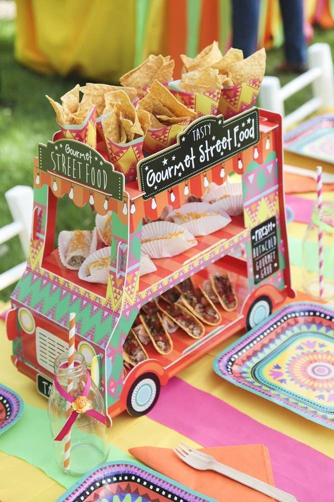 Snack truck at a Cinco de Mayo party! See more party planning ideas at CatchMyParty.com!
