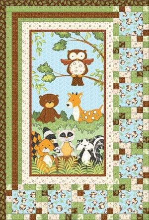 Flannel Forest Friends Quilt (I like the lay out - could use the layout for my next quilt)