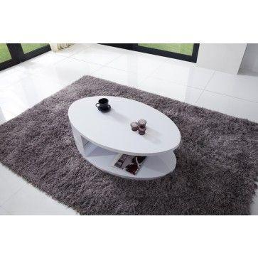 Salon - table basse ovale plateau pivotant - Comforium