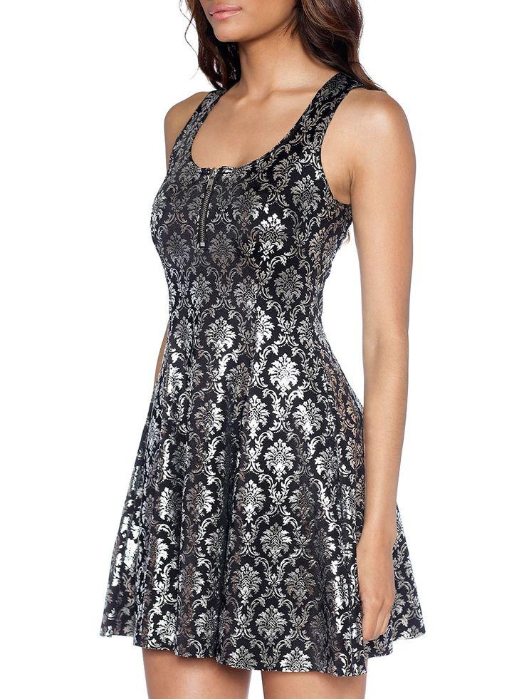 Wallpaper Shiny Shiny Evil Zip Dress - LIMITED (WW $90AUD/ US $72USD) by Black Milk Clothing