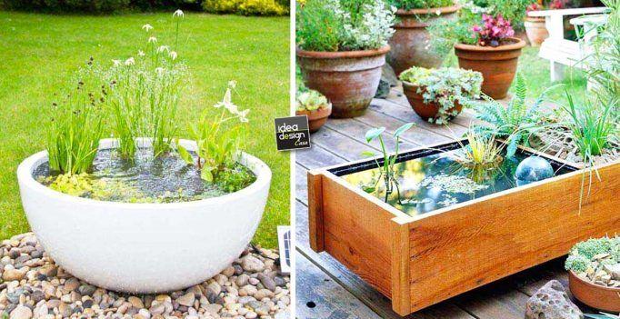 DIY – Piccolo laghetto in un vaso per decorare il giardino! 20 idee bellissime… VIDEO