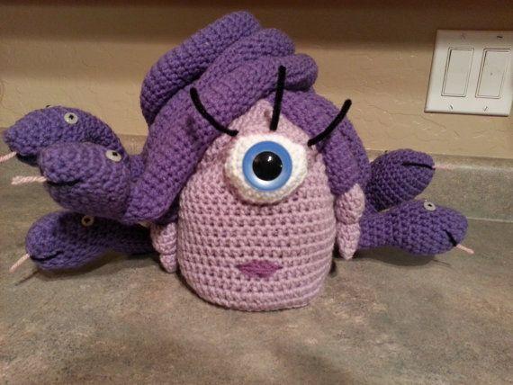 Celia de ganchillo del sombrero de Monsters Inc.