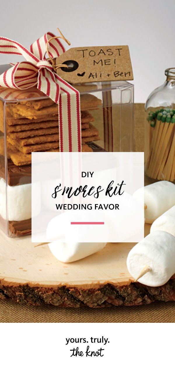 DIY This Su0027mores Kit Wedding Favor In