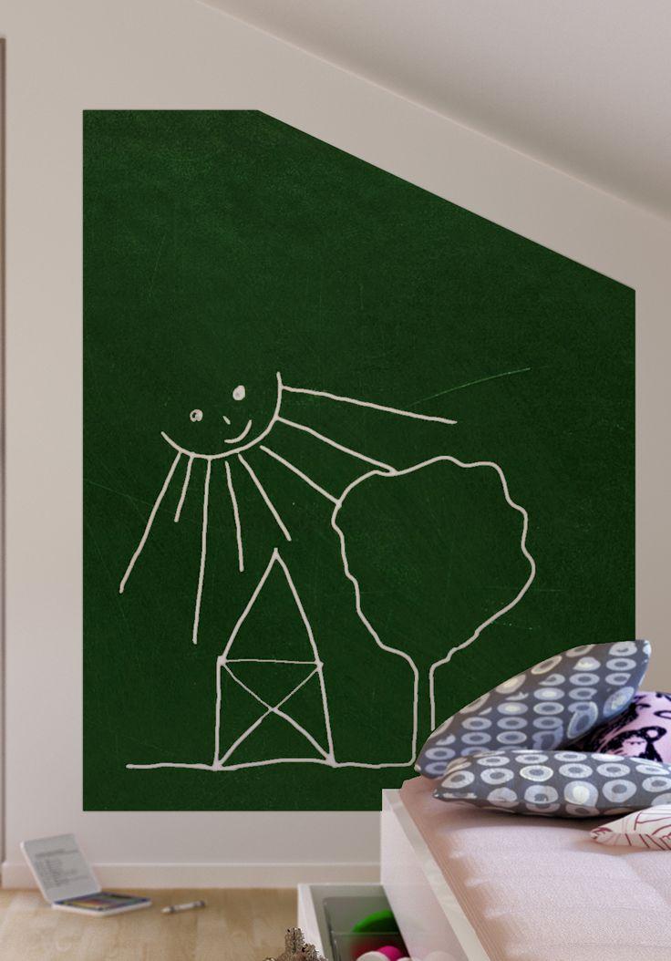 So eine Tafel in Wandgröße darf doch in keinem Kinderzimmer fehlen. Endlich mal die Wände bemalen, ohne Ärger zu bekommen.