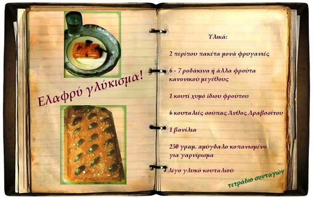 Συνταγές, αναμνήσεις, στιγμές... από το παλιό τετράδιο...: Ελαφρύ γλύκισμα με φρυγανιές!