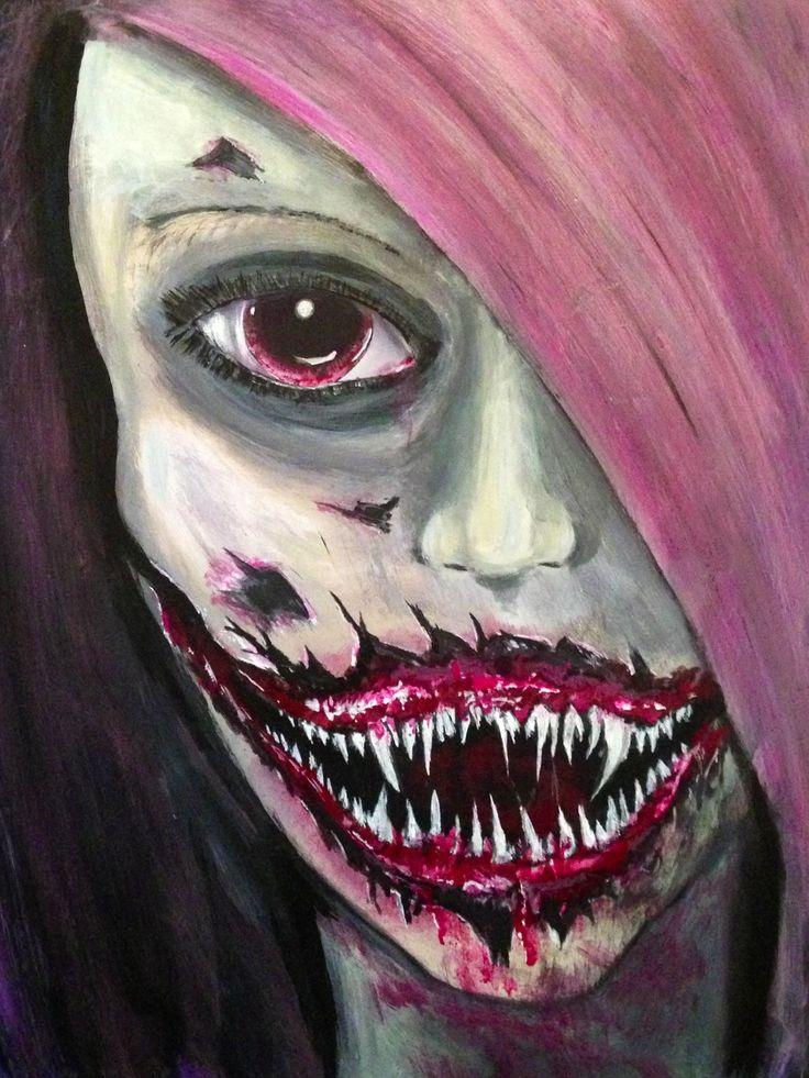 Macabre dark vampire painting art