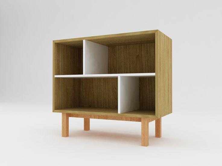 Minimalist modern furniture - Rak Kayu Minimalis dengan kaki - White Elegant Teak