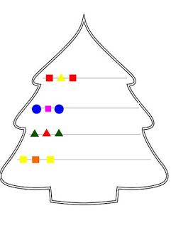 Juf Jamilla: Kerstboom patroon afmaken