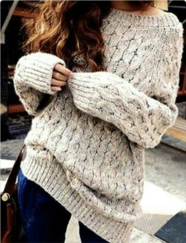Chunky sweaters!