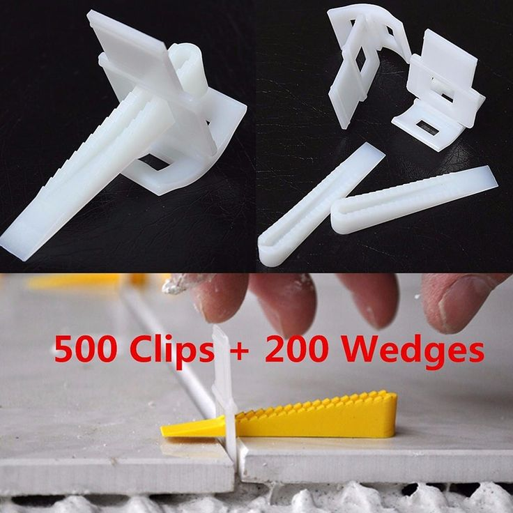 (39.36$)  Buy here - http://aiofx.worlditems.win/all/product.php?id=32794035931 - New 500 Clips + 200 Wedges Tile Leveler Spacers Lippage Tile Leveling System DIY Constrution Tools