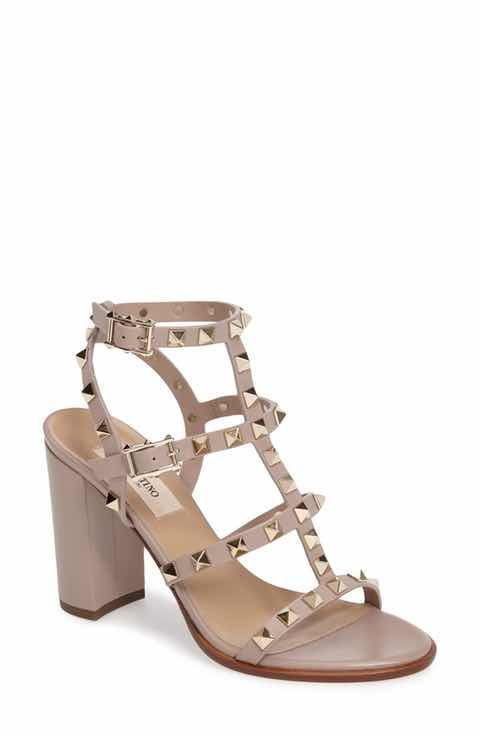Valentino 'Rockstud' T-Strap Sandal ...