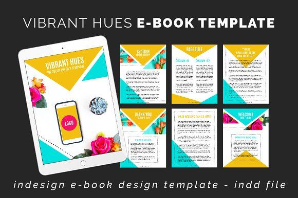 Vibrant Hues Ebook InDesign Template by Love Plus Color on @creativemarket