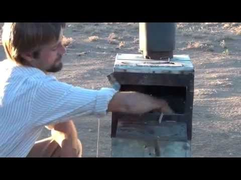 wood stove runs a generator, produces gasoline, runs a fridge and heats hot water at the same time