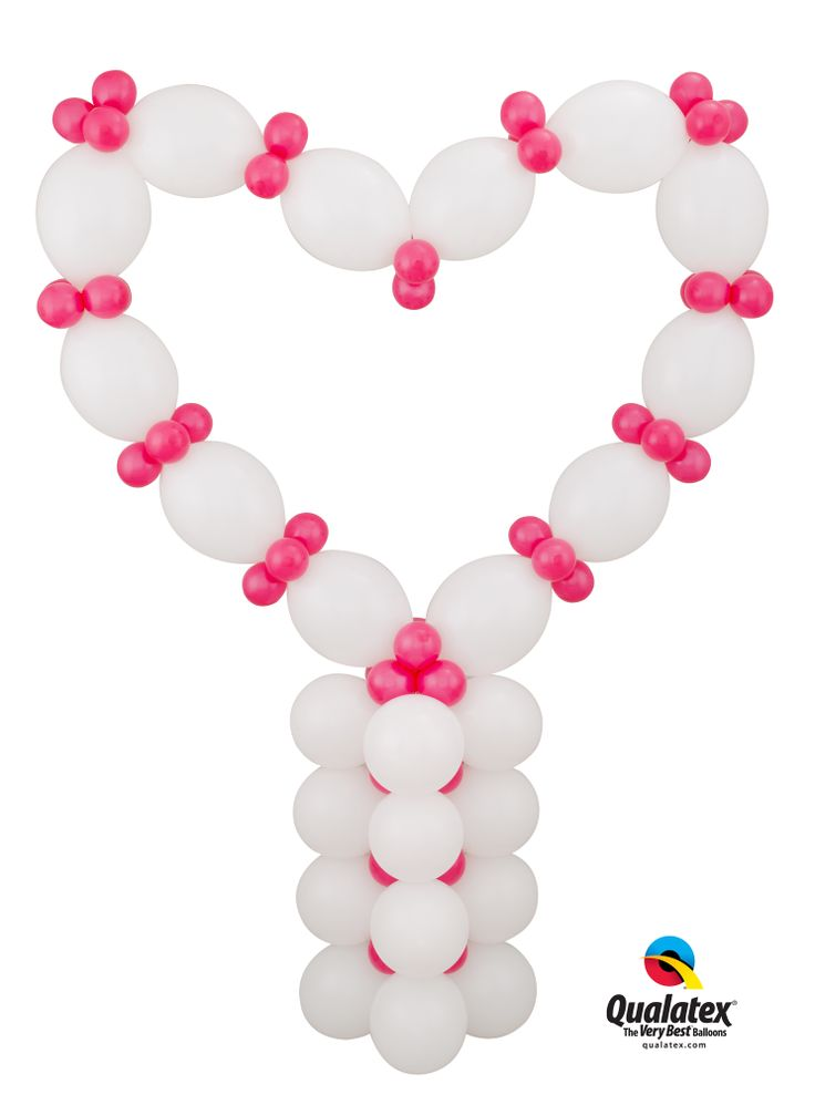 click pin for do it yourself heart balloon column kit
