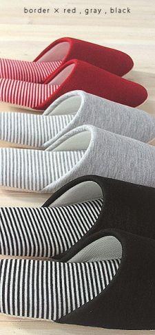 洗えるスリッパ¥680【楽天市場】ボーダーソフトスリッパ:マット&ラグファクトリー