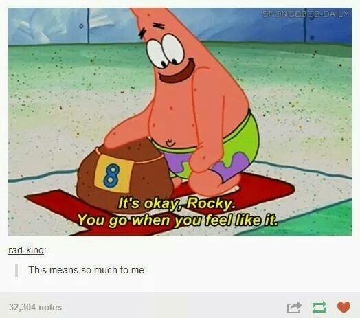Tumblr funnies #spongebob #rocky #patrick