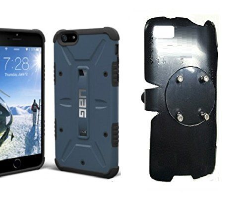 SlipGrip RAM-HOL Holder For Apple iPhone 6S Plus Using UAG Urban Armor Gear Case. 1- No Mechanical or springs to adjust to fit your Phone. 2- Adjustable 360 degrees for easy viewing of the Phone Screen. 3- Camera Hole & Access to All Ports. 4- Easy To Use, Just Slip The Phone & Slight Push; Phone Is Snuggly Held in Place. 5- To Remove the Phone, Just Push the Top Curved Tap while supporting the phone from the top back and remove it.