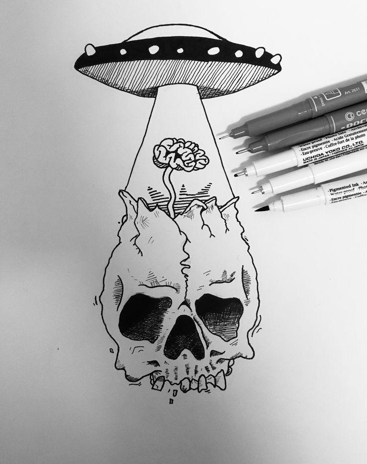 ufo & skull @katekallinn