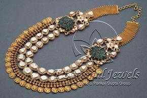 Flat Diamond Necklace Set | Tibarumal Jewels | Jewellers of Gems, Pearls, Diamonds, and Precious Stones