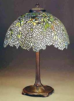 Tiffany Lamps | Laburnum (blue) Tiffany lamp Design #1539 of Tiffany Studios NY