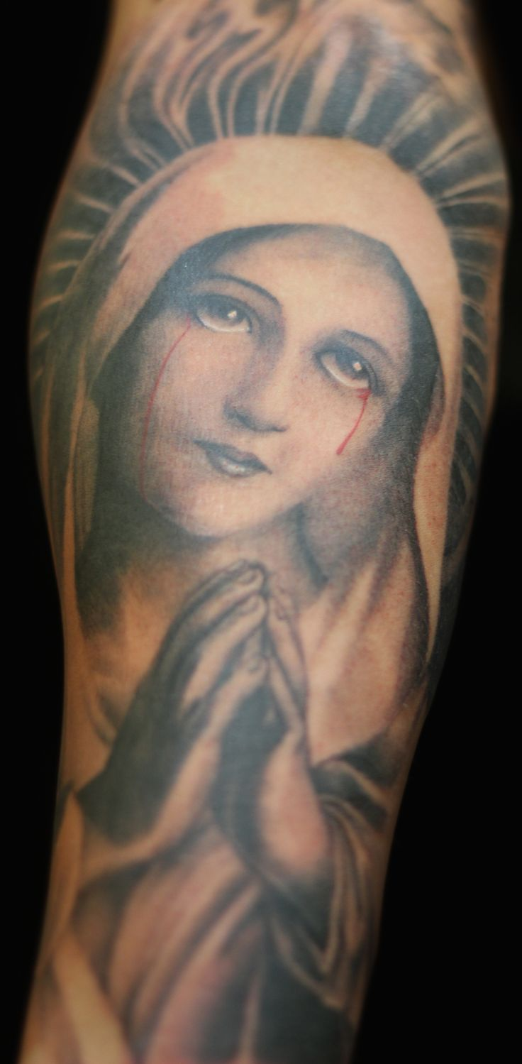 """Let us pray Tattoo by Walter """"Sausage"""" Frank @ Revolt Tattoos #jointherevolt"""