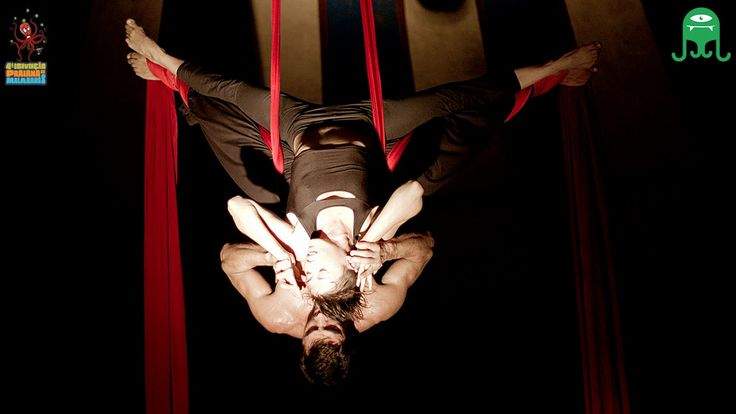 tecido acrobático - aerial silk - Márcia Portales e Johnatan Uriarte - f...