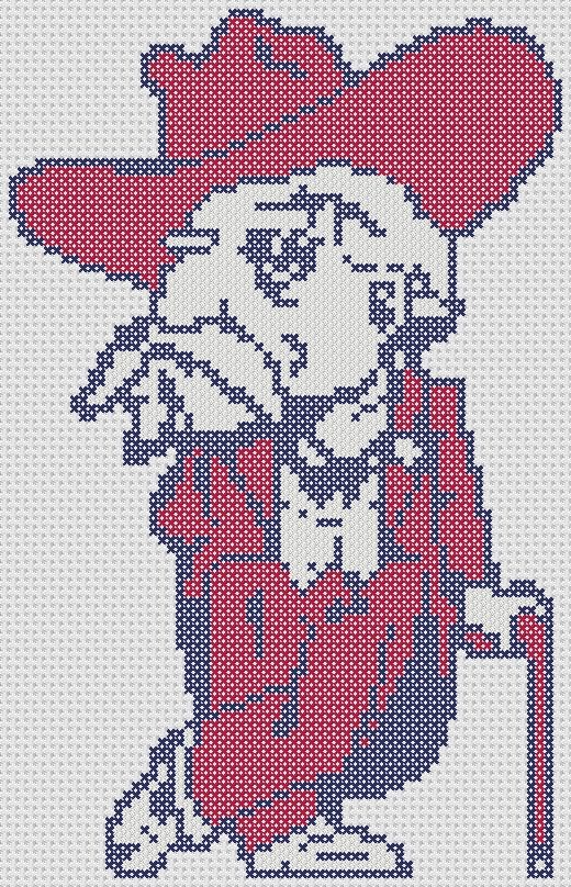 Ole Miss Mascot Cross Stitch Pattern ONLY by OddDuckStudios