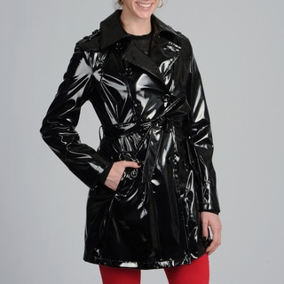 @Overstock - This Via Spiga water resistant belted patent trench coat features a classic look that will turn heads. This coat is adorable and completes nearly any outfit.http://www.overstock.com/Clothing-Shoes/Via-Spiga-Womens-Patent-Trench-Coat/7573952/product.html?CID=214117 $79.99