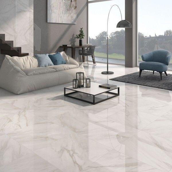 White Gloss Floor Tiles Large White Tiles Direct Tile Warehouse White Gloss Floor Tiles Large Living Room Tiles Tile Floor Living Room Living Room White