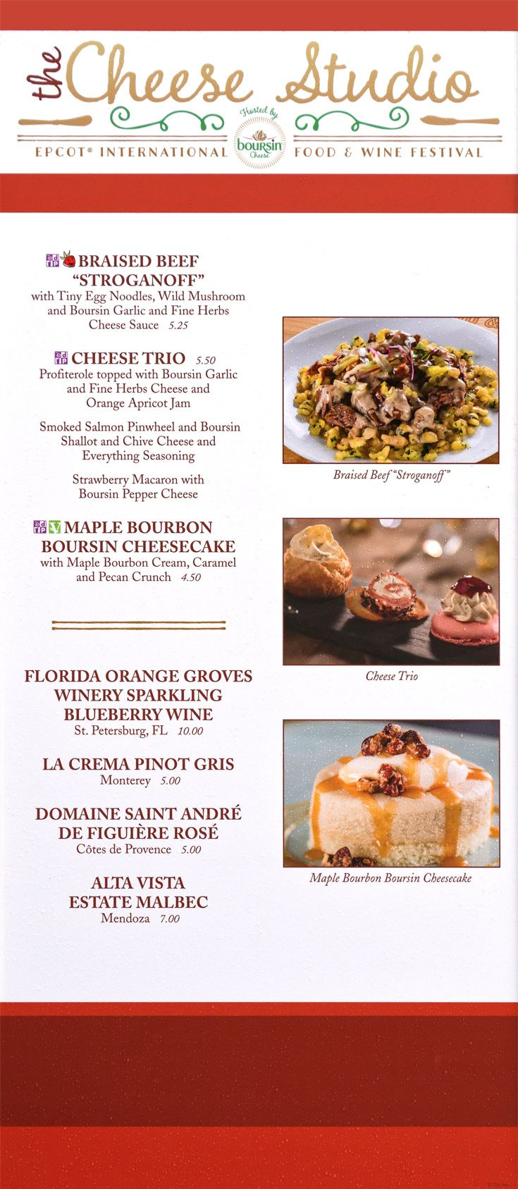The Cheese Studio Booth Menu Board With Prices And Food Photos From